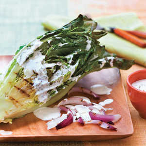 Grilled Romaine Salad With Buttermilk-Chive DressingRecipe