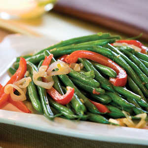 Green Bean-and-Red Bell Pepper TossRecipe