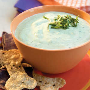 Green Dip With Spooky ChipsRecipe