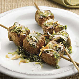 Curried Beef Kabobs With Jade SauceRecipe