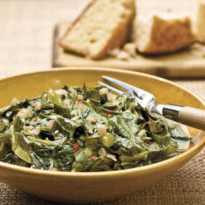 Collards With Red OnionsRecipe