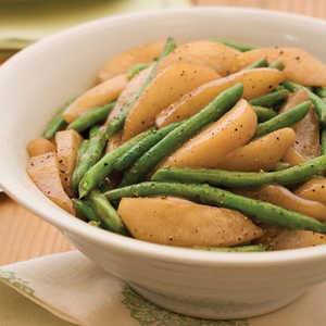 Sautéed Green Beans and PearsRecipe