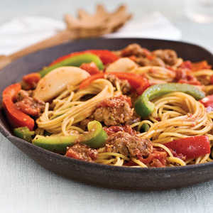 Spaghetti With Sausage and PeppersRecipe
