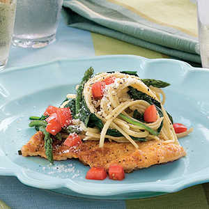 Chicken Scaloppine With Spinach and LinguineRecipe