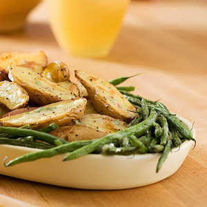 Roasted Fingerlings and Green Beans With Creamy Tarragon DressingRecipe