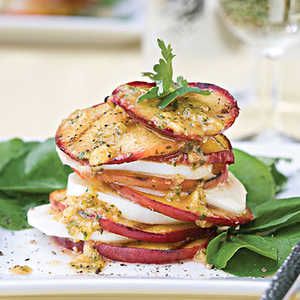 Grilled Peach-and-Mozzarella SaladRecipe