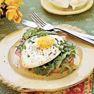 Open-Face Ham-and-Egg Sandwich Recipe