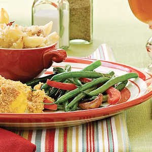 Green Beans With Caramelized Garlic Recipe