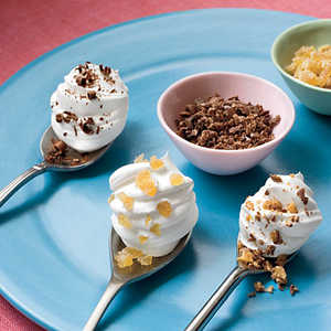 Whipped Topping Dollops On Spoons Recipe