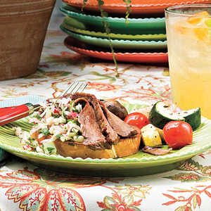 Flank Steak With Radish SalsaRecipe