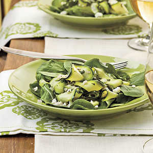 Zucchini Ribbons With Feta and MintRecipe