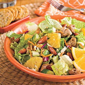 Spicy Pork-and-Orange Chopped SaladRecipe