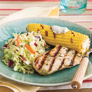 Grilled Chicken With Corn and SlawRecipe