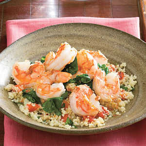 Lemony Shrimp and SpinachRecipe