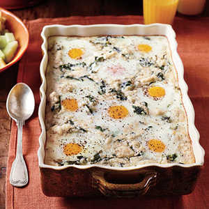 Grits-and-Greens Breakfast Bake Recipe