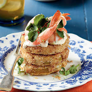 Fried Green Tomatoes with Shrimp RemouladeRecipe