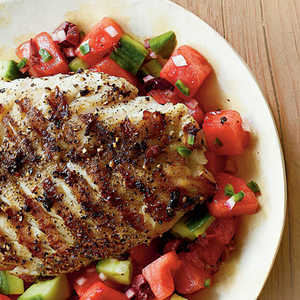 Grilled Grouper with Watermelon Salsa Recipe