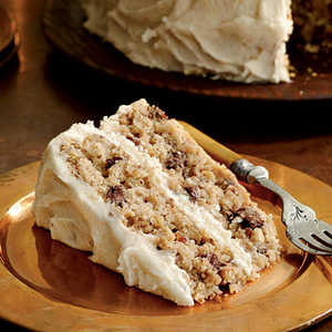 Mocha-Apple Cake with Browned Butter FrostingRecipe
