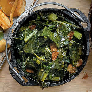 Bacon-and-Bourbon CollardsRecipe