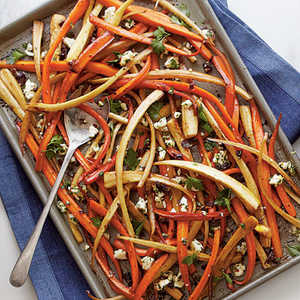 Balsamic-Roasted Carrots and ParsnipsRecipe