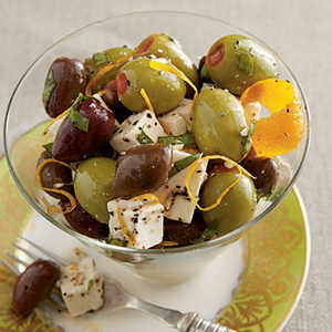 Citrus-Marinated Feta and OlivesRecipe