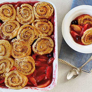 Apple-Cherry Cobbler with Pinwheel BiscuitsRecipe