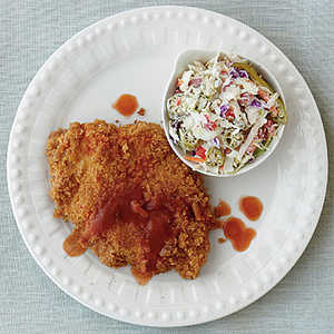 Hot Sauce Fried Chicken with Pickled Okra SlawRecipe