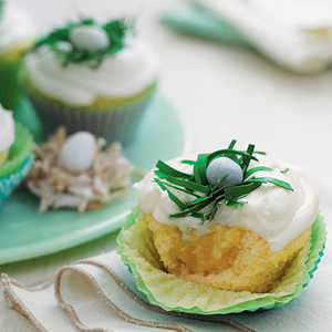 Pineapple-Coconut Cupcakes with Buttermilk-Cream Cheese FrostingRecipe
