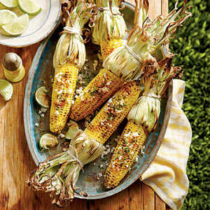 Grilled Corn with Herbed Cotija CheeseRecipe