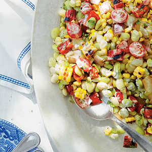 Grilled Corn-and-Butter Bean SaladRecipe