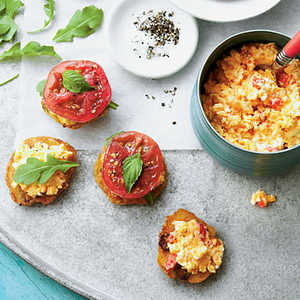 Tomato-and-Okra Cornmeal CakesRecipe