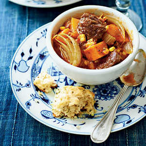 Spiced Beef Stew with Sweet PotatoesRecipe