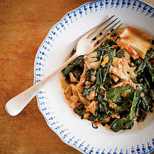 Collards and KimchiRecipe