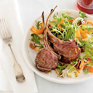 Rack of Lamb with Carrot SaladRecipe