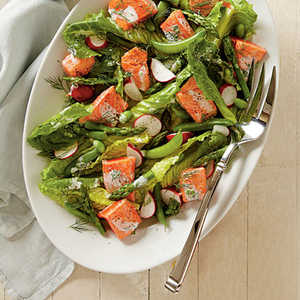 Spring Salmon and Vegetable SaladRecipe
