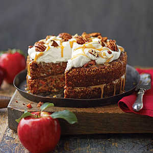 Apple-Pecan Carrot Cake Recipe