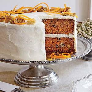 Carrot Cake with Chèvre Frosting Recipe