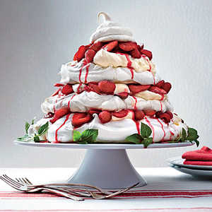 Red Berry Pavlova TowerRecipe
