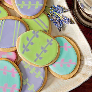 Easter-Egg Shortbread CookiesRecipe