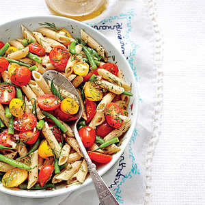 Penne with Green Beans and TomatoesRecipe