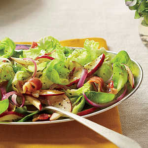 Brussels Sprouts Salad with Hot Bacon DressingRecipe