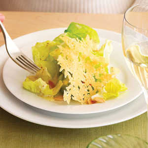 Butter Lettuce Salad with Parmesan Tuiles and AlmondsRecipe
