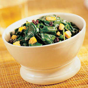 Spinach with Lemon and CurrantsRecipe