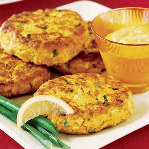 Curried Salmon Cakes Recipe