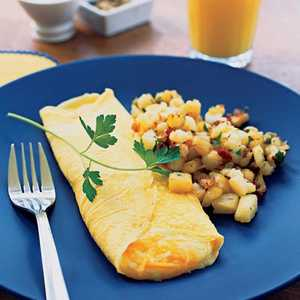 Folded Cheese Omelet Recipe
