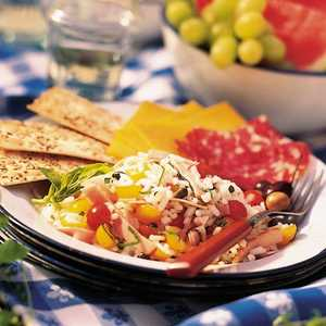 Rice Salad with Ham and TomatoesRecipe