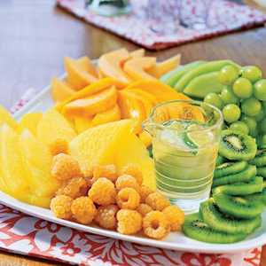 Composed Fruit Salad with Ginger-Lime SyrupRecipe
