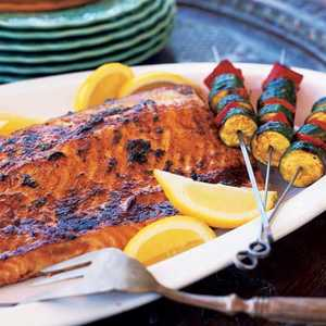 Grilled Salmon with CharmoulaRecipe