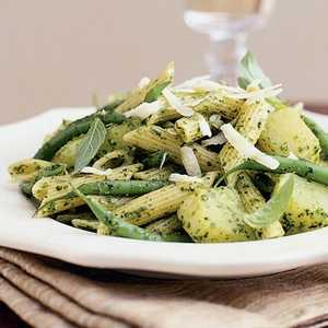 Pesto Penne with Green Beans and PotatoesRecipe