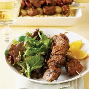 Grilled Lamb Brochettes with Lemon and DillRecipe